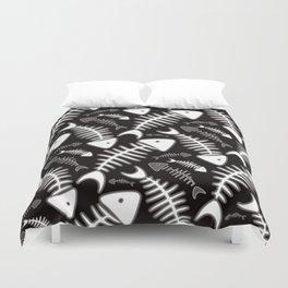 Fish Bone Black & White Duvet Cover