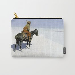 "Frederic Remington Western Art ""The Scout"" Carry-All Pouch"