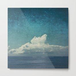 cloud over island Metal Print