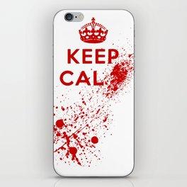 Keep Calm Blood Splatter iPhone Skin