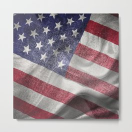 4th of July Fabric of America Metal Print