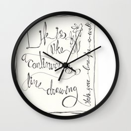 Line  ( Take your line for a walk) Wall Clock