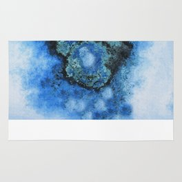 Abstract texture arctic blue Rug