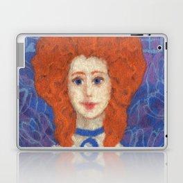 Red Hair, ginger lady, rococo haircut, felt painting, fiber art Laptop & iPad Skin