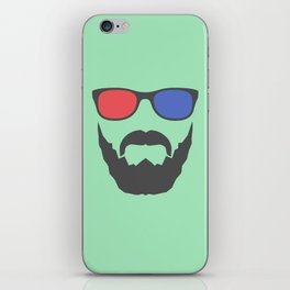 3D beard iPhone Skin