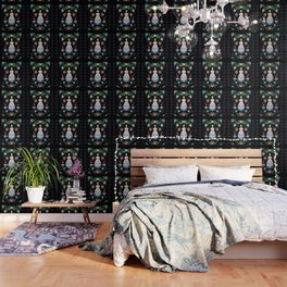 Folk Art Forest Fairy Tale Fraulein Wallpaper
