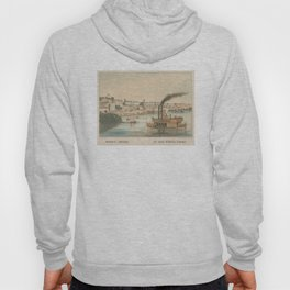 Vintage Pictorial View of Memphis TN (1854) Hoody