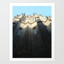 St Michel Facade Art Print
