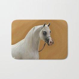 Digital Painting of an arabian horse Bath Mat
