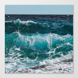 Breakers Rolling In To Shore Canvas Print