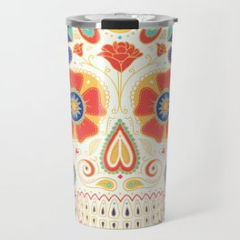 Day of the Dead Sugar Skull Candy Travel Mug