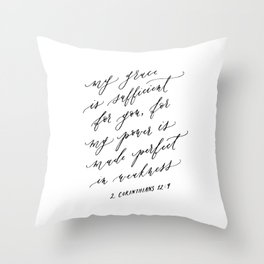 2 Corinthians 12:9 Throw Pillow