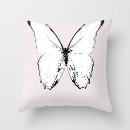 buttefly fly fly away Throw Pillow