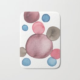 Color Sphere Circle Watercolor Bath Mat