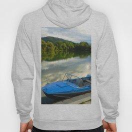 Motor boat on the lake Hoody
