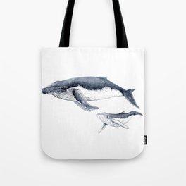 Humpback whale with calf Tote Bag