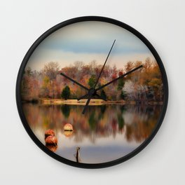 Autumn At Lake LaJoie 3 Wall Clock