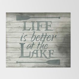Lake Life Throw Blanket