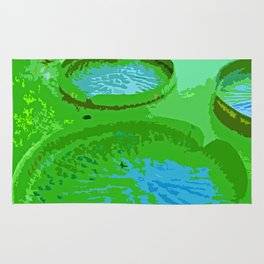 Waterlilies for big frogs Rug