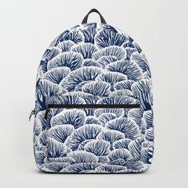 Mushroom Pattern - Dark Blue Backpack