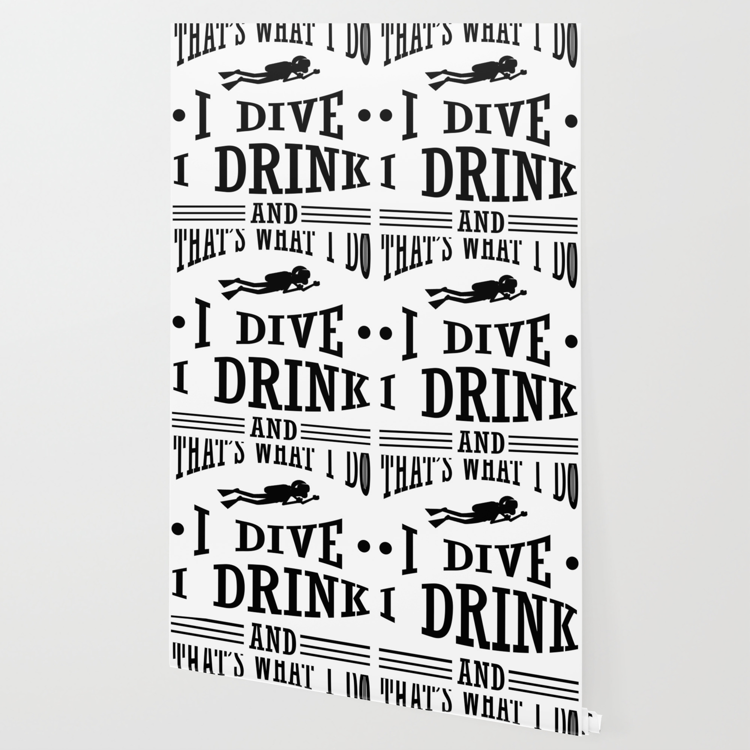 Scuba Diving I Dive I Drink I Know Things Diver Wallpaper By