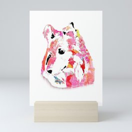 luci the sheltie Mini Art Print
