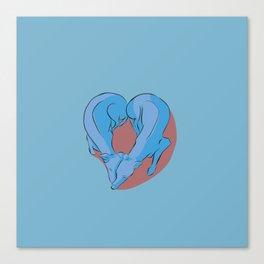 Greyhound Love Canvas Print
