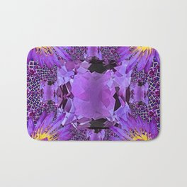 EXOTIC AMETHYST FEBRUARY  FLORAL FANTASY  ABSTRACT Bath Mat