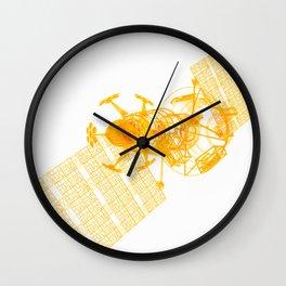 Explorer Schematic Orange On White Wall Clock