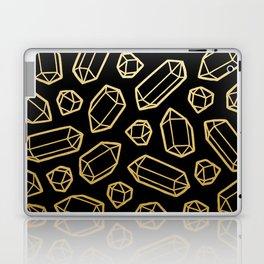 Black & Gold Crystal Pattern Laptop & iPad Skin