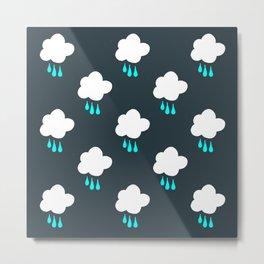 Rain Cloud Pattern Metal Print