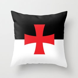 Knights Templar Flag Throw Pillow