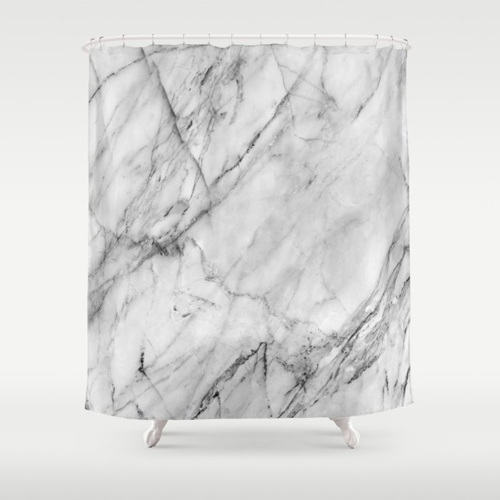 Marble Shower Curtain By Patternmaker