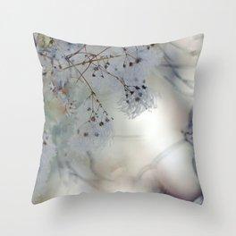 White Weeds Throw Pillow