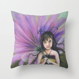 Z imagination Bee Girl Throw Pillow
