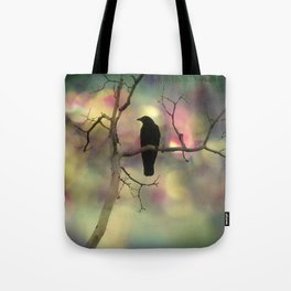 Crow Dreams In Colors Tote Bag