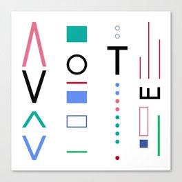 Vote Baby Vote 031316 Canvas Print