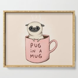 Pug in a Mug Serving Tray