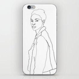 One line fashion illustration - Dania iPhone Skin