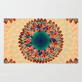 Earthy Starburst Mandala Rug