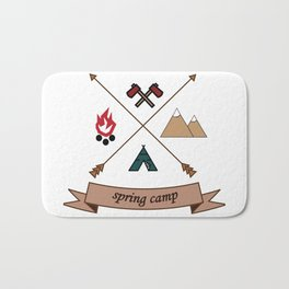 Camping Spring Camp adventure design Bath Mat