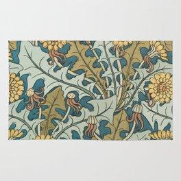 Art Nouveau Dandelion Pattern Rug