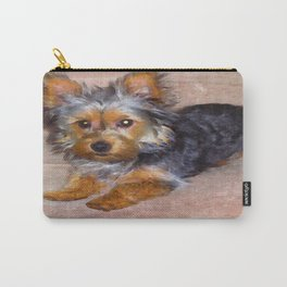 Silky Terrier Puppy - rendered as watercolor Carry-All Pouch