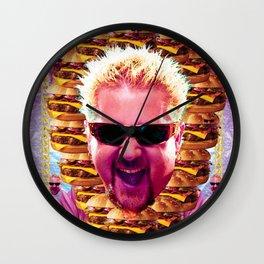 guy fieri's dank frootie glaze Wall Clock