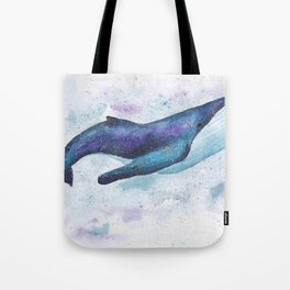 Big space whale illustration Tote Bag