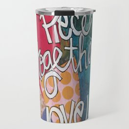 Quilters Piece Together Love Travel Mug