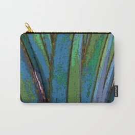 Blue Abstract Screw Pine Carry-All Pouch
