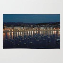 Night view of Donostia-San Sebastian. Spain. Rug