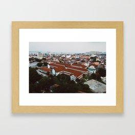 Penang Cityscape Framed Art Print