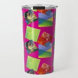 Painted Squares Jiggle - Pink Travel Mug